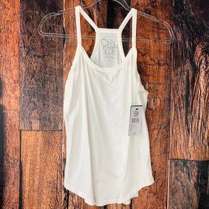 NWT Chaser Solid White Tank Top